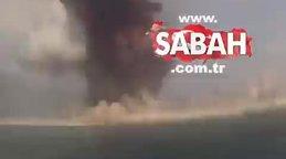 Son dakika! Beyrut'taki patlamadan inanılmaz görüntüler! | Video