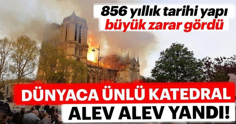 Paris'ten son dakika haberi! 850 yıllık tarihi olan Notre Dame Katedrali yangın çıktı!