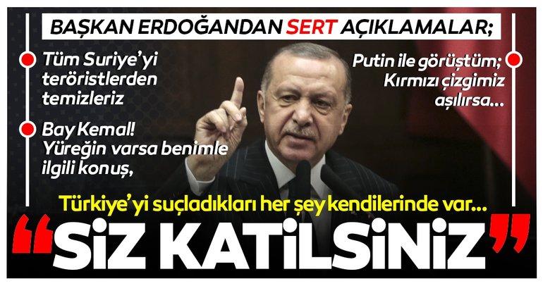 SON DAKİKA... Başkan Recep Tayyip Erdoğan'dan sert açıklamalar: Katil olan sizsiniz Müslümanlar değil!