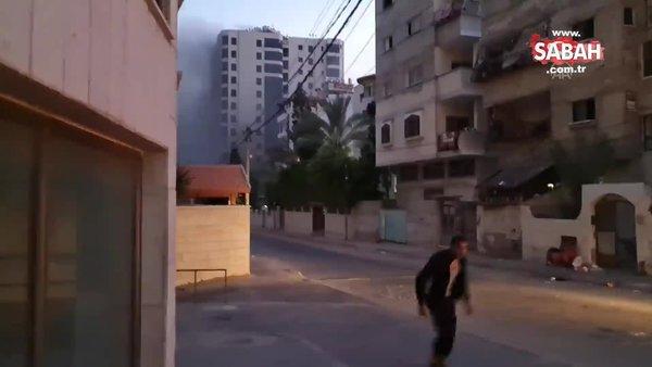 İsrail, Gazze'nin batısında sivillerin yaşadığı 12 katlı Hanadi Kulesi'ni hava saldırısıyla yıktı | Video