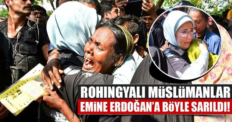 Emine Erdoğan Arakanlı Müslümanlar için Bangladeş'te