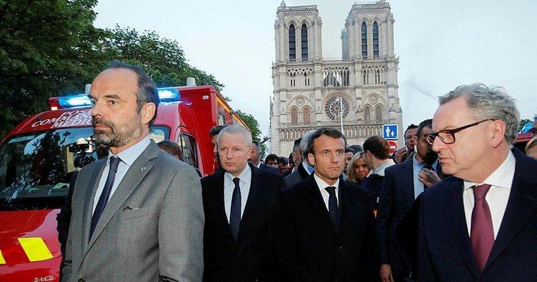 Macron'dan son dakika Notre Dame Katedrali açıklaması!