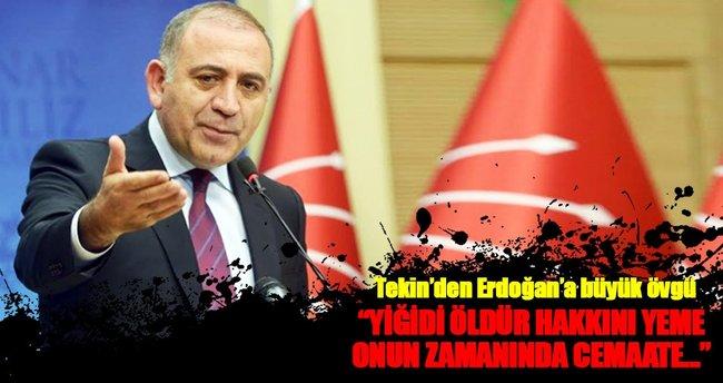 Tekin'den Erdoğan'a büyük övgü