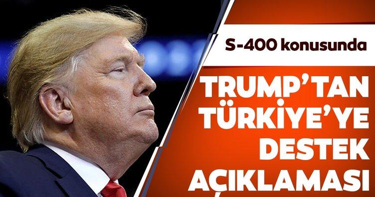 Trump'tan Türkiye'ye destek açıklaması!