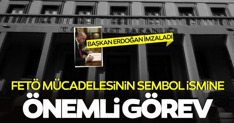 SON DAKİKA! FETÖ mücadelesinin sembol ismi Başkan Erdoğan'ın imzası ile Bakan Yardımcısı oldu