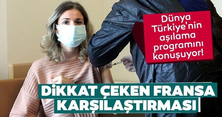 Dünya Türkiye'nin aşılama programını konuşuyor! Dikkat çeken Fransa karşılaştırması