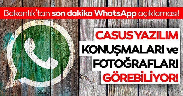 Son dakika: Bakanlık'tan Whatsapp uyarısı! Whatsapp'ta casus yazılım ile fotoğraflarınız...