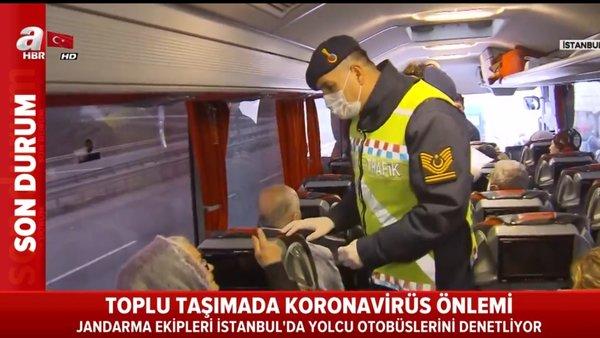Jandarma corona virüsü denetiminde o yolcuları otobüslerden böyle indirdi | Video