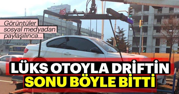 Ankara'da drift yapan sürücüye şok ceza