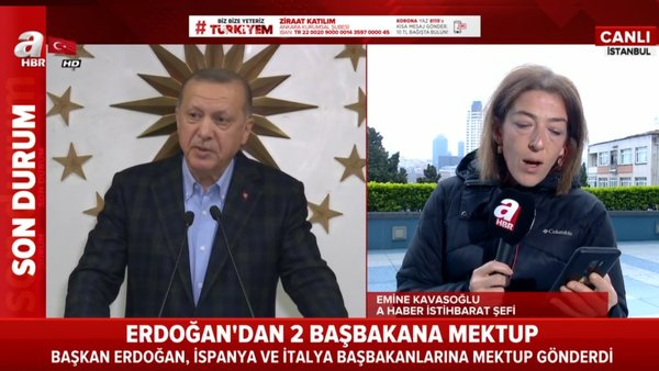 Cumhurbaşkanı Erdoğan'dan iki ülkenin başbakanına mektup | Video