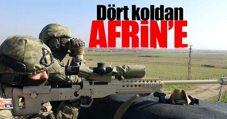 Güvenlik tehdidi Afrin'e dört koldan harekat yapılabilir