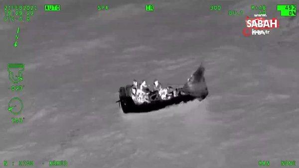 ABD'de göçmenleri taşıyan teknenin alabora olduğu anlar kamerada | Video