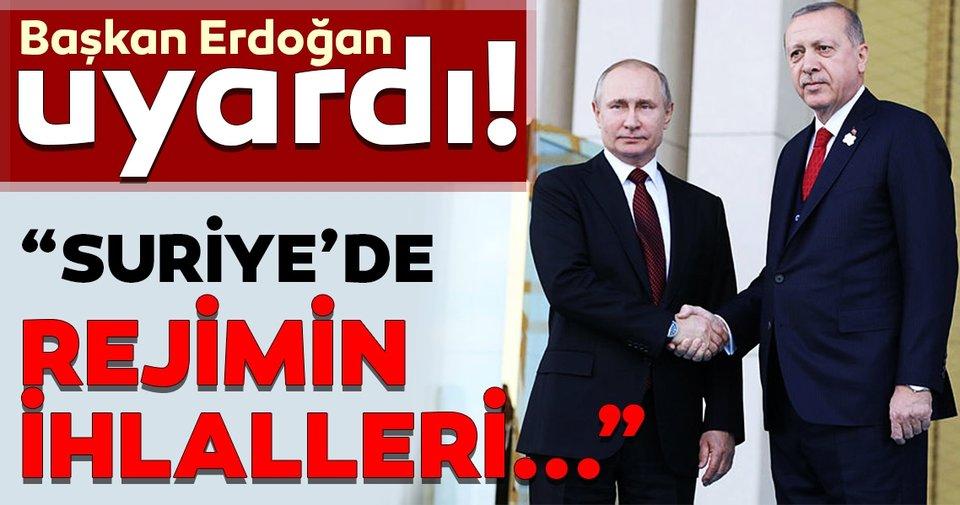 Son Dakika: Erdoğan- Putin görüşmesi