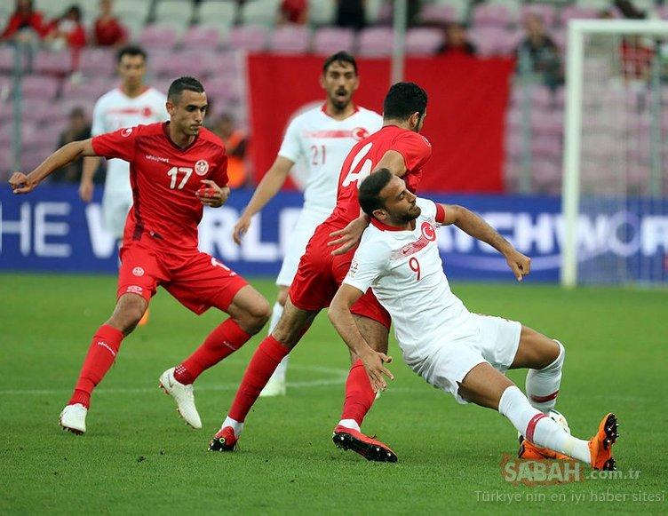 Tunus - Türkiye maçından kareler
