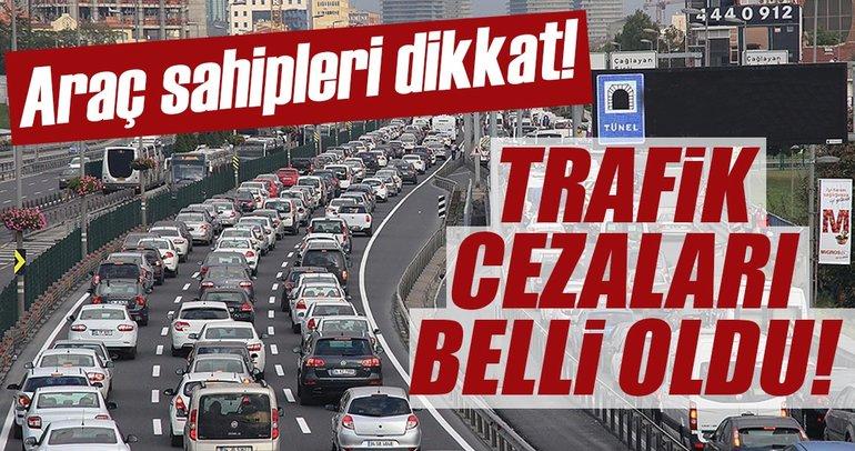 Son dakika: 2018'in trafik cezaları belli oldu