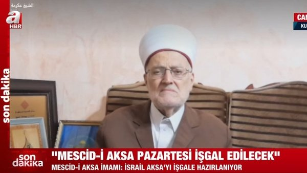 Son dakika: Mescid-i Aksa İmamı'ndan A Haber'e önemli açıklamalar | Video
