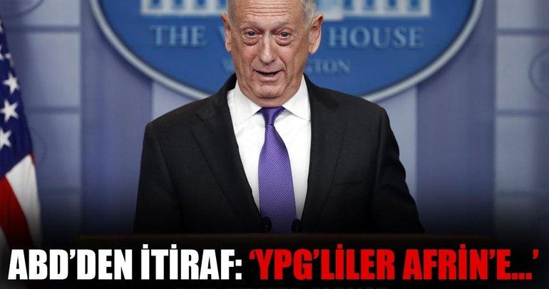 Mattis'ten itiraf: SDG'den Afrin'e geçenler oldu