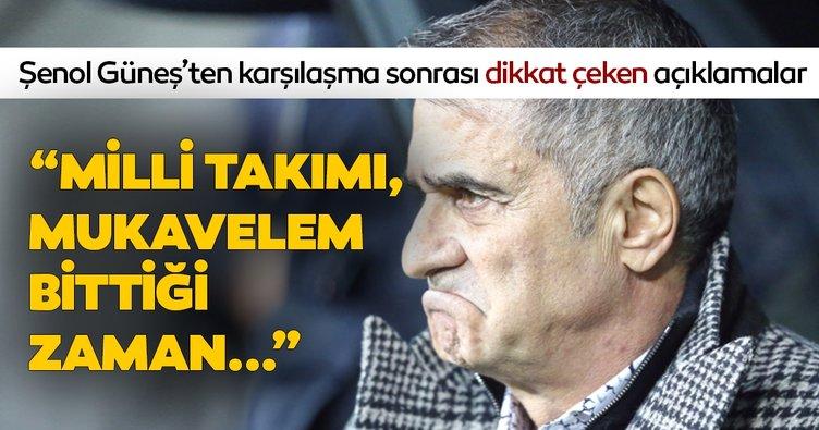 Şenol Güneş'ten son dakika Milli Takım açıklaması! Beşiktaş'ta sözleşmem bitince...