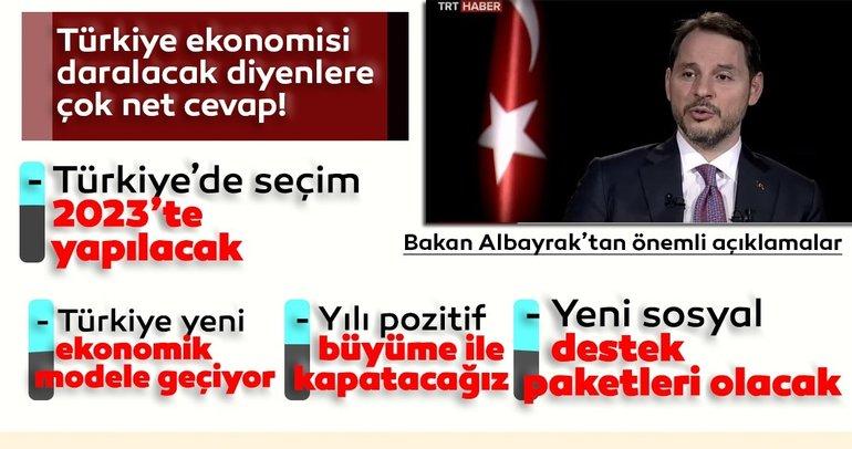 Son Dakika Haberi: Hazine ve Maliye Bakanı Berat Albayrak'tan önemli açıklamalar