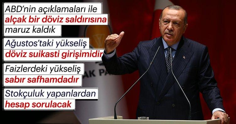 Son Dakika... Başkan Erdoğan: Ağustos'taki yükseliş bir döviz suikasti girişimidir