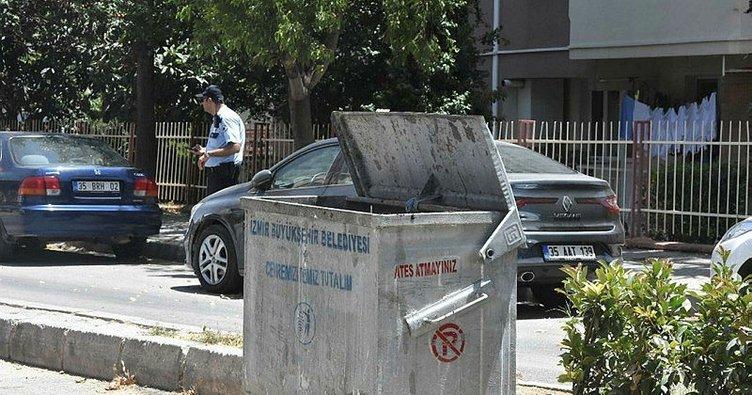 İzmir'de, çöp konteynerinde çok sayıda keleş mermisi bulundu
