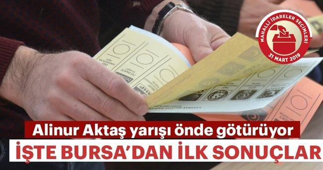 Bursa'da Alinur Aktaş önde