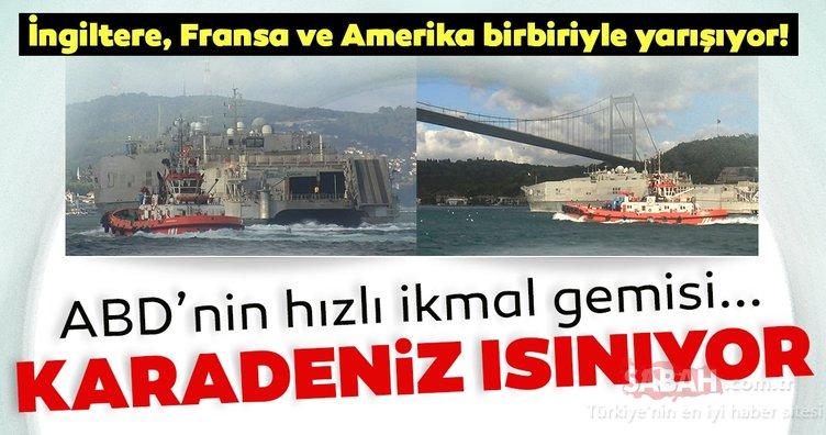 ABD'nin bir donanma gemisi daha Karadeniz'egeçti