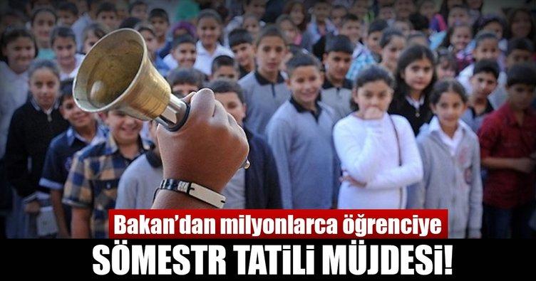 Milli Eğitim Bakanı'ndan öğrencilere sömestr tatili müjdesi!