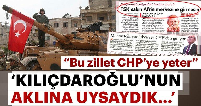 """""""Bu zillet CHP'ye yeter"""""""