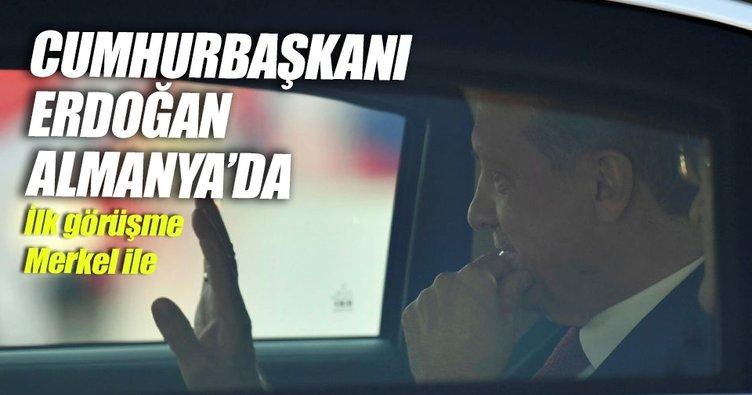 Cumhurbaşkanı Erdoğan, Almanya'ya geldi
