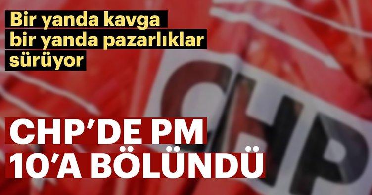 CHP'de PM 10'a bölündü