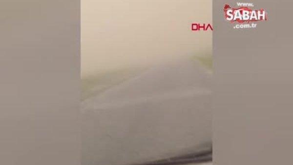 Konya'da etkili olan kum fırtınasının görüntüleri ortaya çıktı | Video