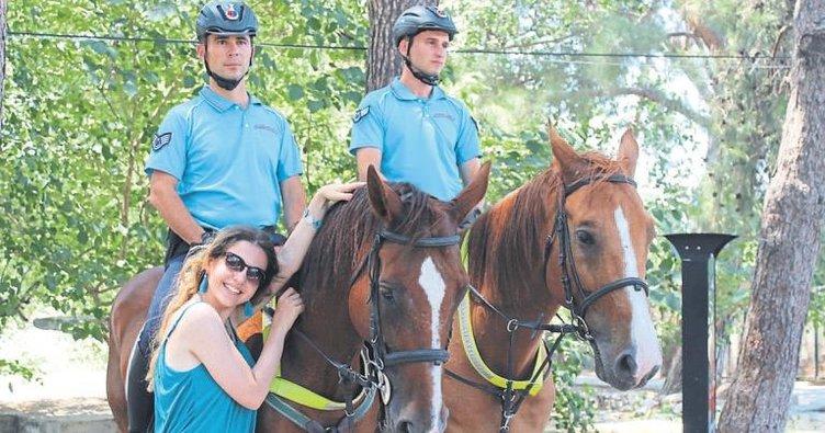 Drone ve atlar ile asayiş sağlanıyor