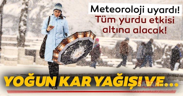 Meteoroloji'den son dakika kar yağışı ve hava durumu uyarısı geldi! Tüm yurdu etkisi altına alacak…