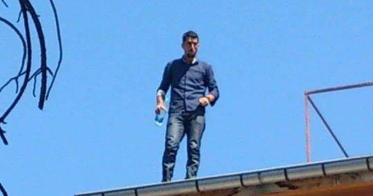 Doktora kızdı çatıya çıktı