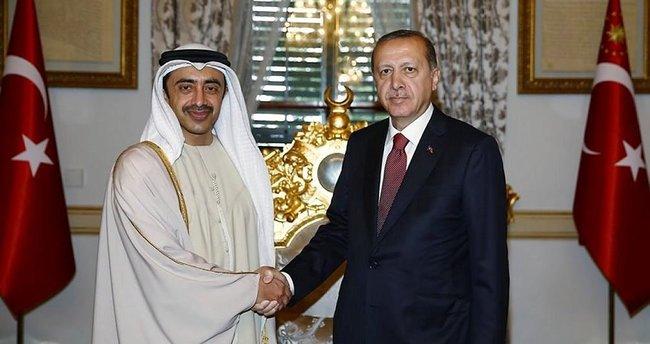 Erdoğan, El Nahyan'ı kabul etti