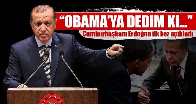 Erdoğan Obama ile ne konuştuğunu açıkladı