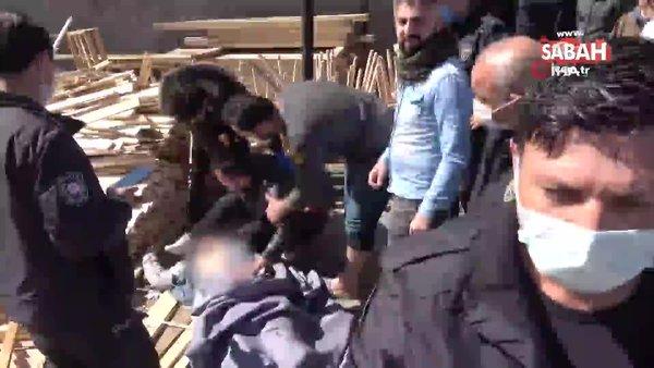Kereste altında kalarak ölen kardeşe son bakış | Video