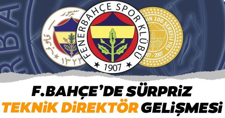 Fenerbahçe'de sürpriz teknik direktör gelişmesi