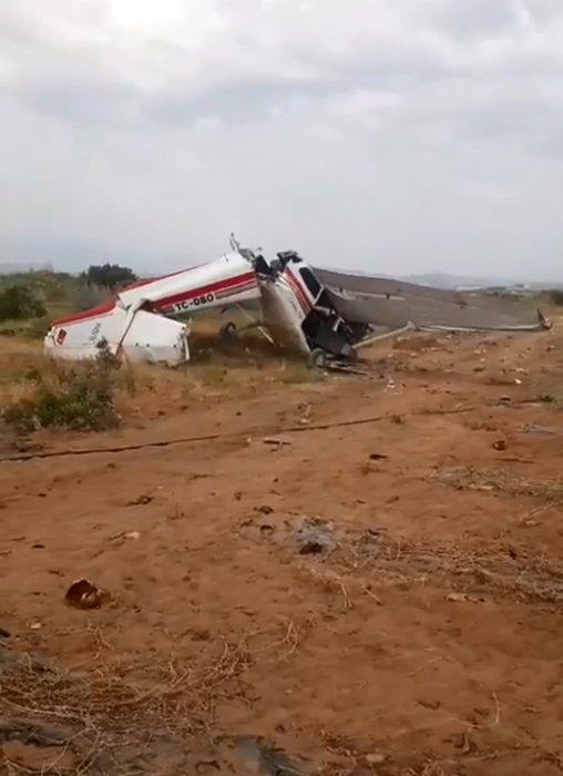 Son dakika: Antalya'da tek motorlu uçak düştü! Ölü ve yaralılar var...