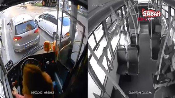 Manisa'da telefona bakarken kaza yapan otobüs şoförünün işine son verildi!