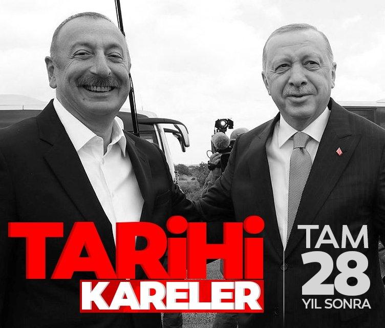 Başkan Erdoğan İlham Aliyev'le birlikte Suşa'da