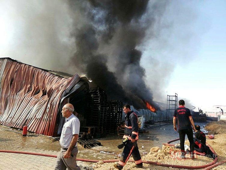 Malatya'da dondurma fabrikasında yangın!