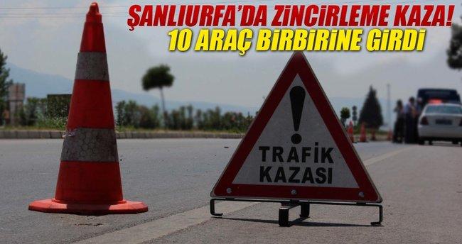 Şanlıurfa'da zincirleme trafik kazası: 15 yaralı