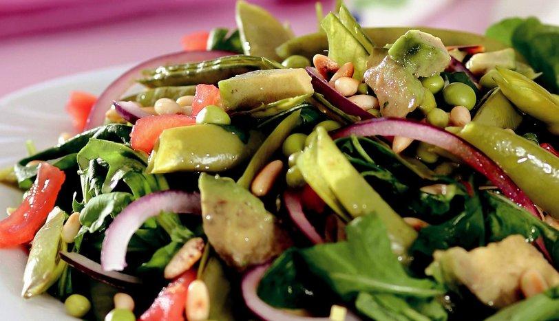 Avakadolu Bezelye Salatası