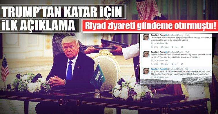 Son dakika: Trump'tan ilk Katar açıklaması!