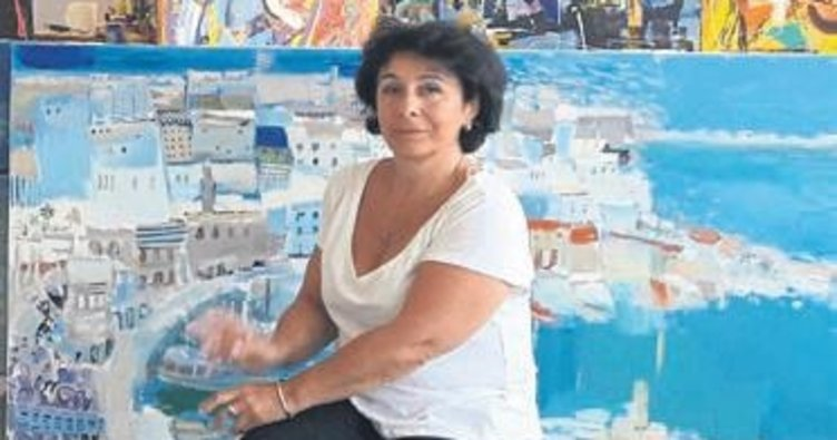 Sanatçı Shalamberidze eserlerini beğeniye sundu