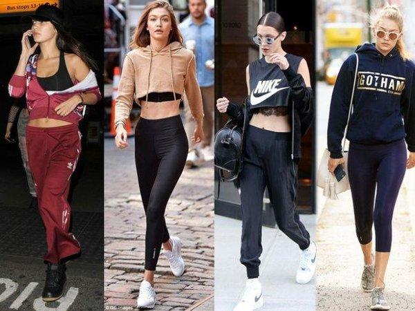 Spor giyimiyle büyüleyen ünlüler