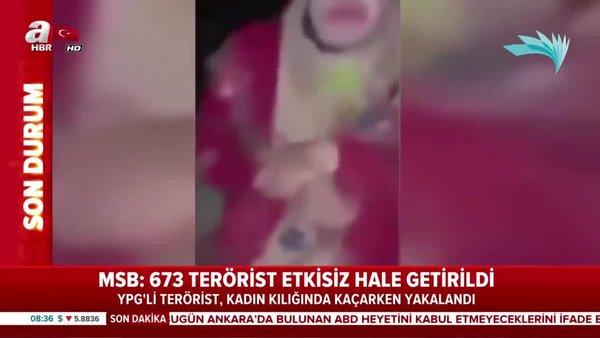 YPG/PKK'lı terörist kadın kılığında kaçarken makyajlı olarak böyle yakalandı!