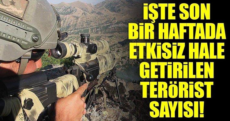 TSK'dan flaş açıklama: 32 terörist etkisiz hale getirildi!